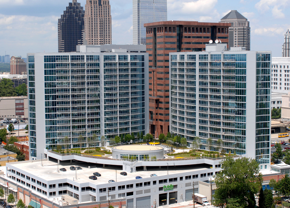 Plaza Midtown - Sold one third of the entire city block to Daniel Corp and Selig Enterprises, who together built over 400 condo units and 40,000 sq ft of successful retail including Publix grocery store.